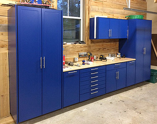 Gallery clear space garage and closet storage solutions - Armoire garage castorama ...